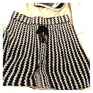 Black and White patterned skirt from Candie's.
